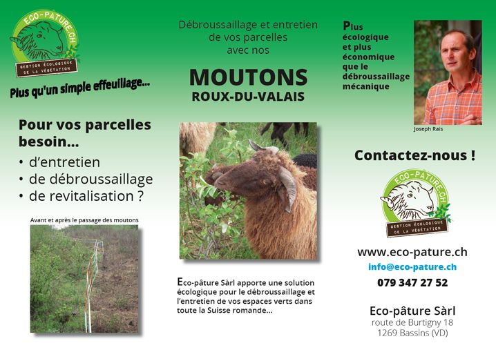 Flyer Eco-Pâture Sàrl